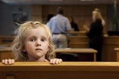girl in courtroom